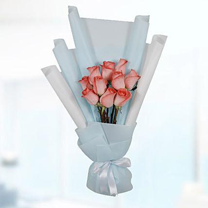 Bouquet Of 10 Orange Roses