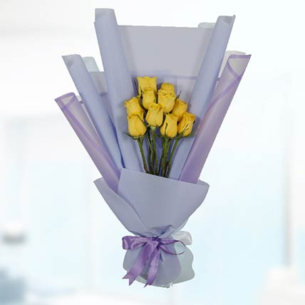 Bouquet Of 20 Yellow Roses