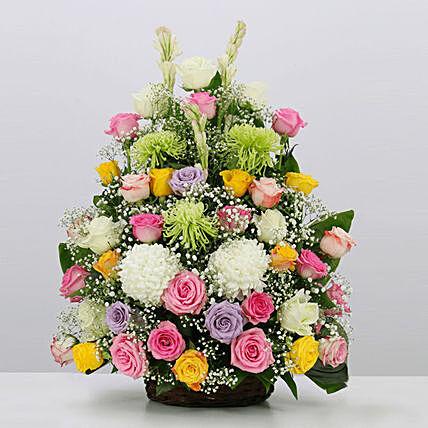 Joyful Blooms Arrangement- Deluxe