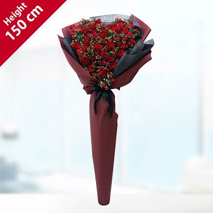 Red Roses Bouquet- Deluxe