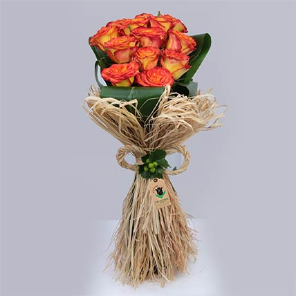 Tropical Tangerine Roses Bouquet