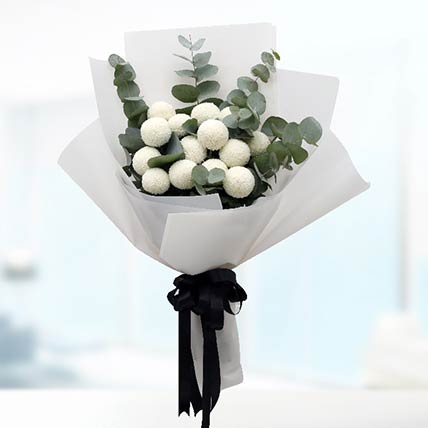 White Ping Pong Bouquet
