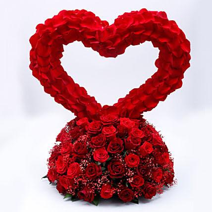 In Love Roses Arrangement