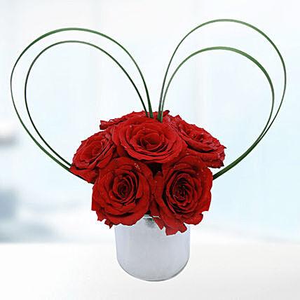 Loving Red Roses Vase