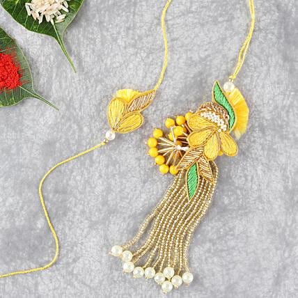 bright and beautiful lumba rakhi set
