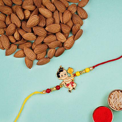metal bal hanuman kids rakhi and almonds