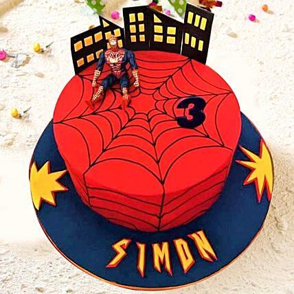 Spiderman Vanilla Cake 3.5 Kgs