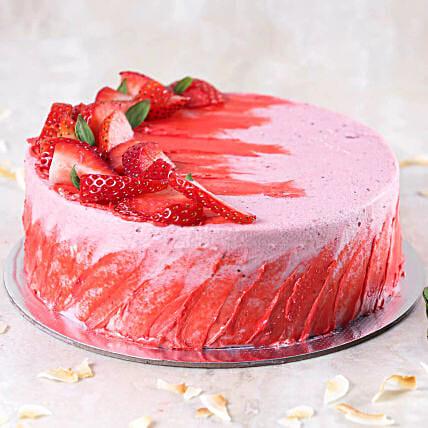 Strawberry Flavour Cake- 1.5 Kg
