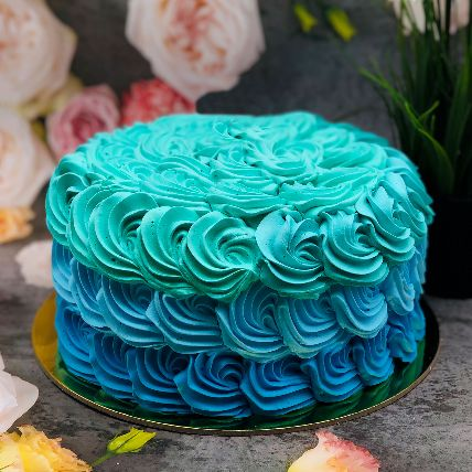 Calm Shades of Blue Forest Cake Half Kg