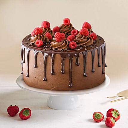 Dripping Chocolate Raspberry Cake 1 Kg