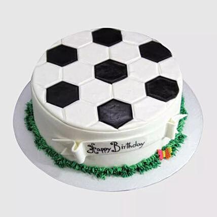 Delicious Football Cake