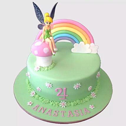 Tinker Bell Fondant Cake