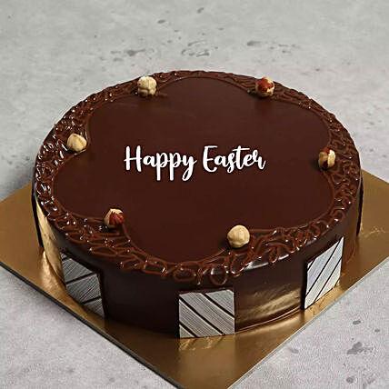 Happy Easter Hazelnut Chocolate Cake 1 Kg
