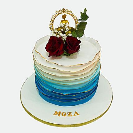 Blue Omber Cake