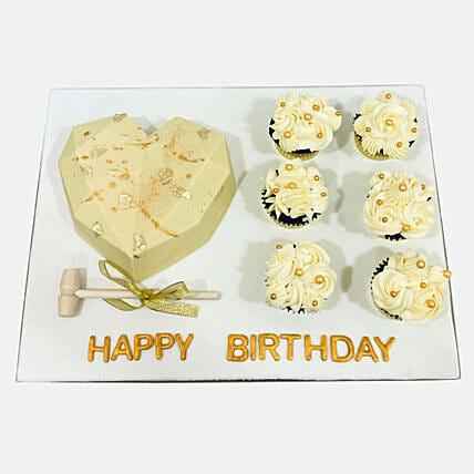 Heart Shape Pinata Cake