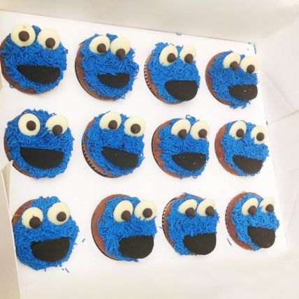 Cookies Monster Chocolate Cup Cakes