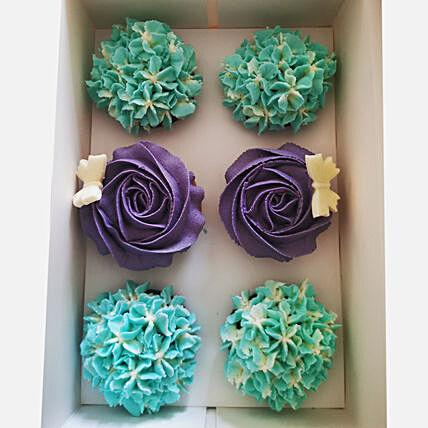 Delicious Flowery Vanilla Cup Cakes
