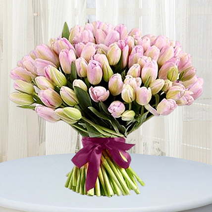 Grand Pink Tulips Bouquet