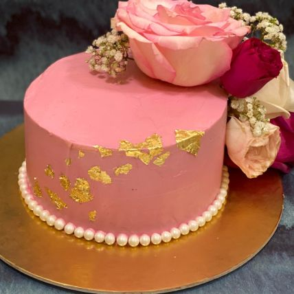 Delicated Rose Chocolate Cake