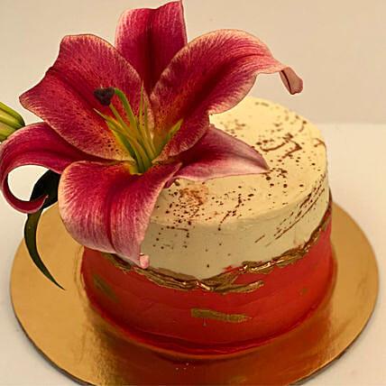 Lily Flower Chocolate Cake