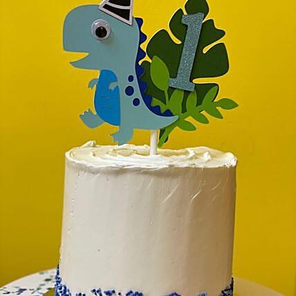 Little Dino Vanilla Cake