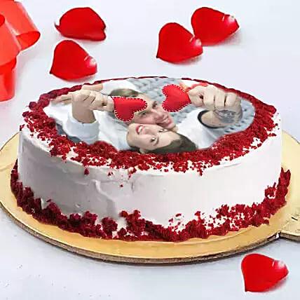 Eggless Love Photo Cake