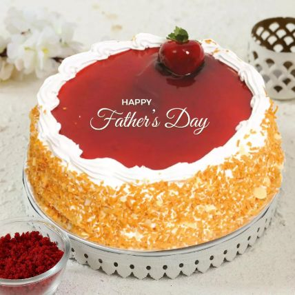 Fathers Day Special Strawberry Cake 1.5 Kg