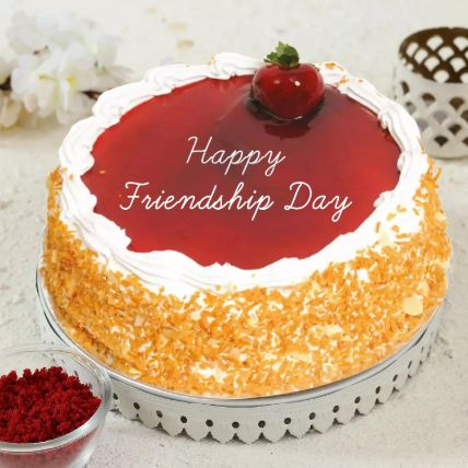 Delicious Friendship Day Strawberry Cake 1.5 Kg