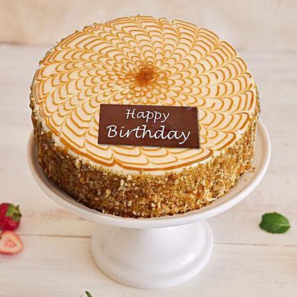 Happy Birthday Crunchy Butterscotch Cake 1 Kg