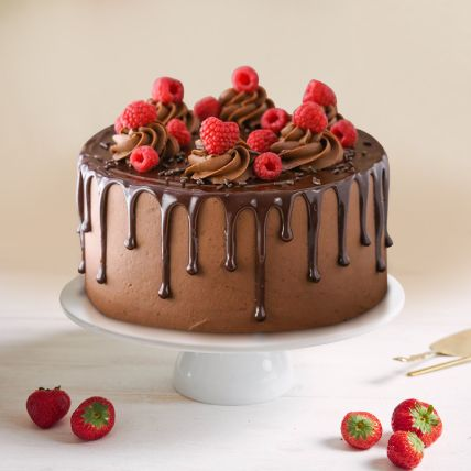 Dripping Chocolate Raspberry Cake Half Kg