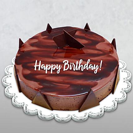 Happy Birthday Chocolate Ganache Cake - 1.5 Kg