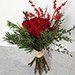 Red Roses and Ilex Berries Bouquet